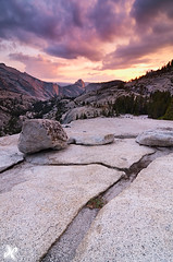 Happy Birthday to Ya, Olmsted Point, Yosemite National Park (Joshua Cripps) Tags: pink sunset orange rocks purple