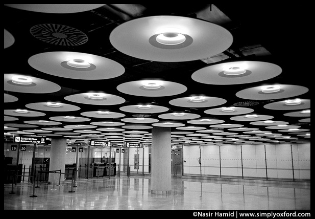 Madrid airport interior