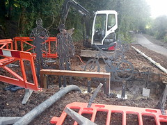 Five Arches Greenway Construction - Day 222 (WestfieldWanderer) Tags: geotagged cyclepath radstock midsomernorton 5archesgreenway geo:lat=5128503597221185 geo:lon=24774001521149103