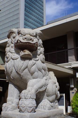 難波神社 狛犬
