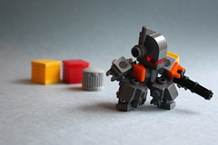 Chubby is best... [Explored] (CoIor!) Tags: lego minigun brickarms