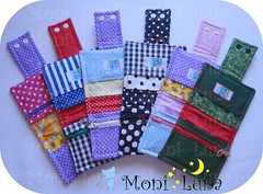 Por dentro... (Moni Luna) Tags: floral handmade sewing craft mini luna moni wallets colorido xadrez pos carteiras