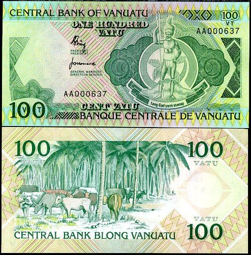 100 Vatu Vanuatu 1982, Pick 1
