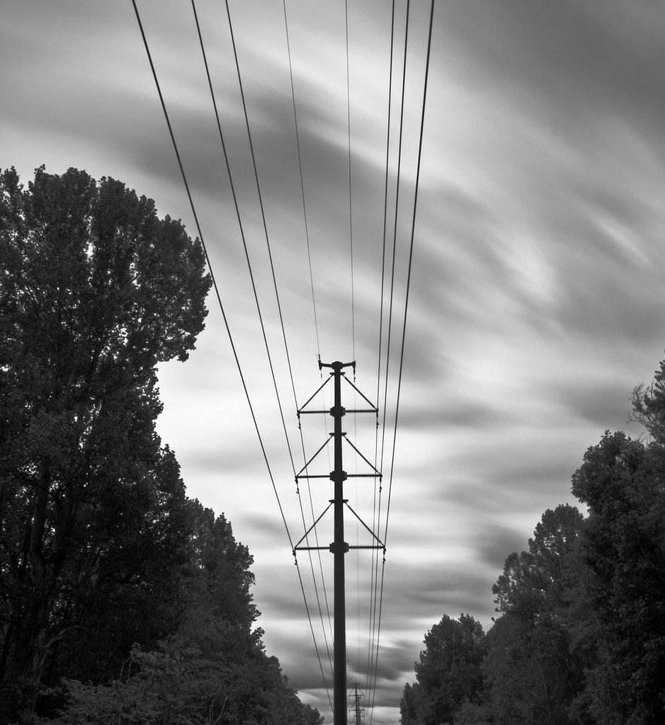 power lines b&w nd