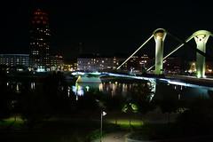 Frankfurt Flosser-brucke (Giangaleazzo) Tags: leica bridge night zeiss germany nacht ponte notte urbanlandscape biogon frankfurtammein leicam8