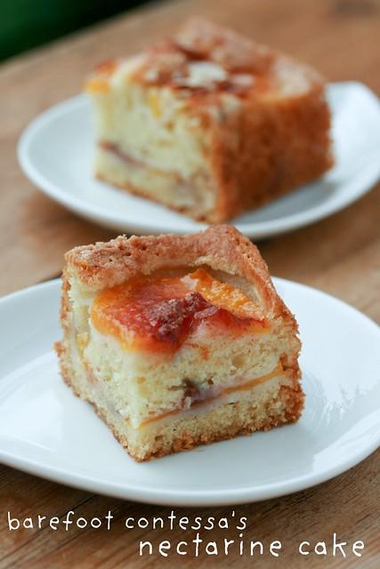 Barefoot Contessa's Nectarine Cake