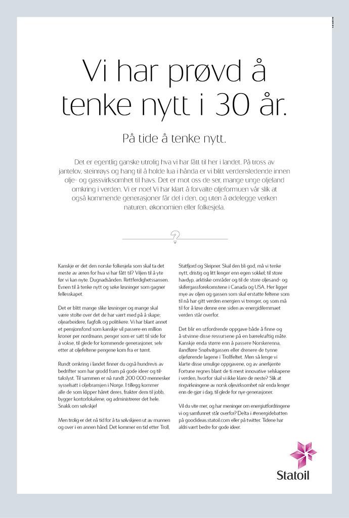 Statoil ASA_Tenke nytt