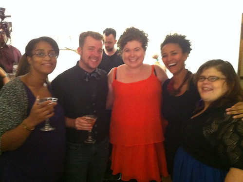 With my friends and Midnight Brunch guests Patrice, Topher, Netta and Emily H.