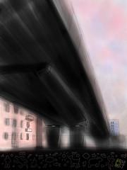 The Underpass (Matthew Watkins) Tags: fiat ponte brushes bari ipad brushesapp