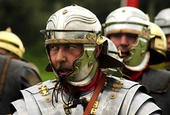 IMG_0706 (smiscandlon) Tags: portrait colour english heritage face metal infantry soldier niceshot roman expression helmet event armour reenactment reenactor legion romans helm corbridge gladiators xiiii