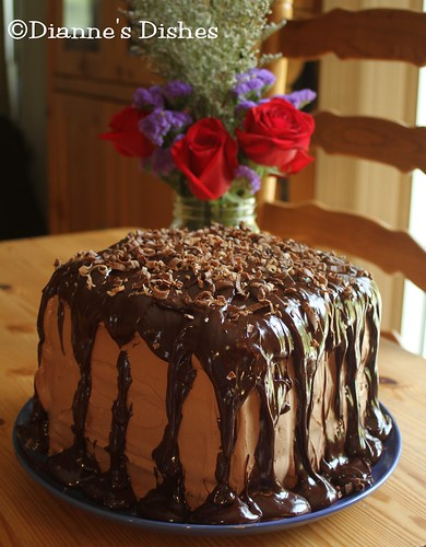Triple Chocolate Ganache Cake