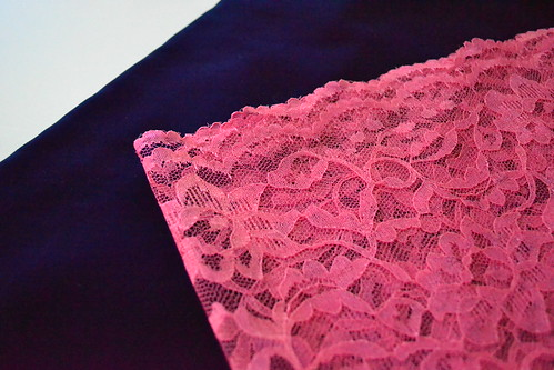 blue velvet with pink lace?