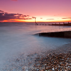 Pebble Wash (Olly Plumstead) Tags: sunset seascape beach canon se long exposure sigma pebbles filter 09 he olly 06 grad 1020 groyne selsey hitech plumstead gnd 450d