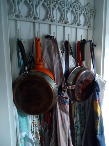 pans and aprons