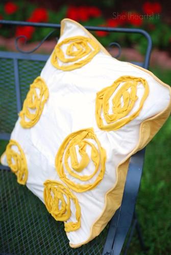 Mustard Rose Pillows