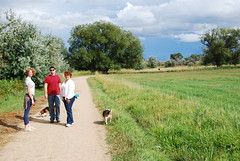 Out for a walk (Let Ideas Compete) Tags: family beagle dogs colorado farm hound boulder trail co essence mansbestfriend hounds teler