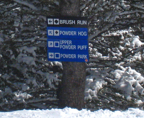Bridger Bowl trail signs by Becky Lomax