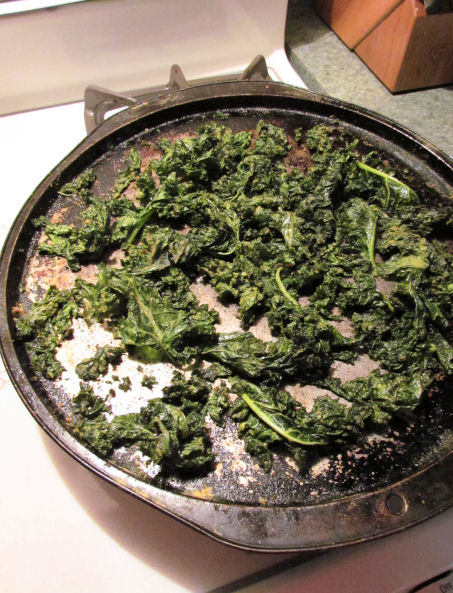 Kale Chips After Baking