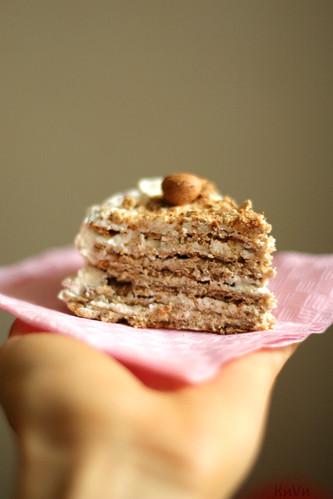 Творожно-банановый торт 2