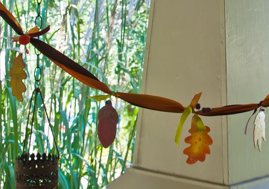autumn swag craft segment