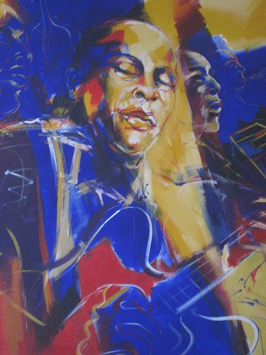 BBKing in Blue  - Painting