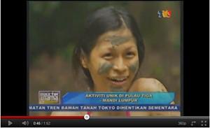 Rebecca on Buletin Utama at Pulau Tiga, Sabah