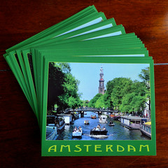 My own postcard of Amsterdam (Bn) Tags: city summer amsterdam boats time jan postcard tourist canals card zomer mokum rondvaart grachten publication jordaan westertoren lange westerkerk bootjes ansichtkaart