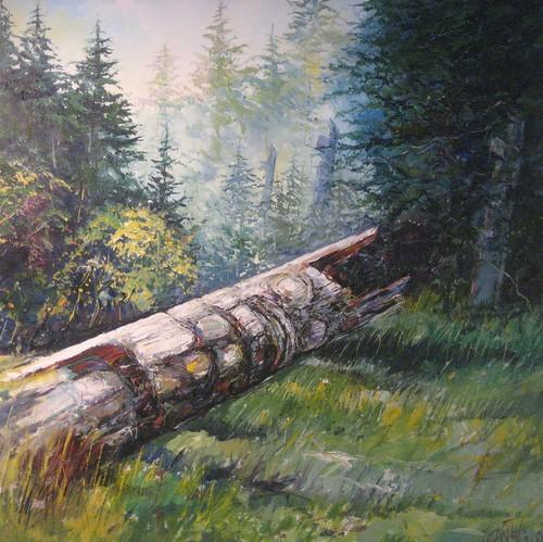 Fallen Totem - Painting - Realism