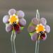 Earring pair : Blossom & ladybug