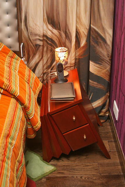 Look at the bedside table inside the Mirage suite!