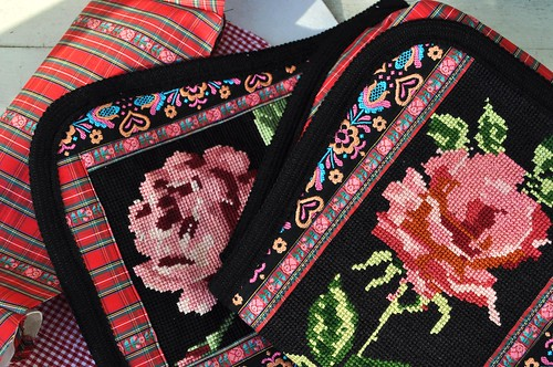roses on the new bags