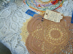 2011 Altenburg Fair 134:  Crochet Doilies (whitebuffalobk) Tags: beer animals fun missouri displays rides altenburg eastperrycountycommunityfair