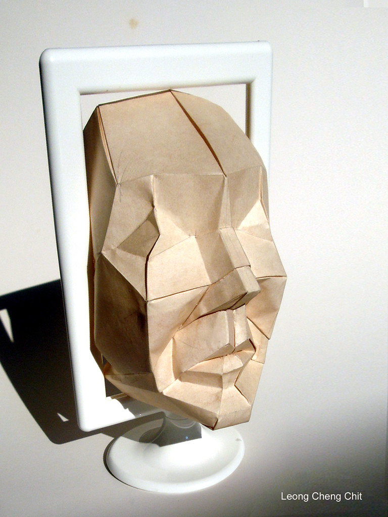 HUMAN FACE Leong Cheng Chit Tags Face Origami Polyhedron