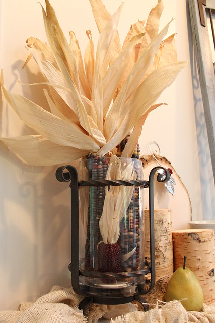 Willow House Galveston vase with corn