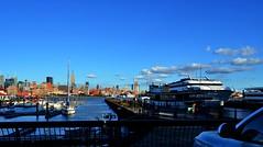 a riverview from hoboken ----------- viewed 676x (norlandcruz74) Tags: nyc newyorkcity blue sky usa ny newyork clouds digital river newjersey nikon flickr nj cruz jersey hudson dslr hoboken pinoy newyorkny norland flickraward d5100