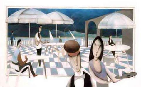 Summer in Cannes - Painting Original - Plexiglass