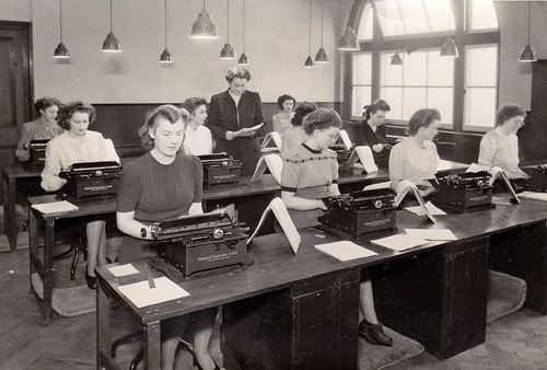 "Typing School. ""Room 44, London Bridge. 14th November 1946"""