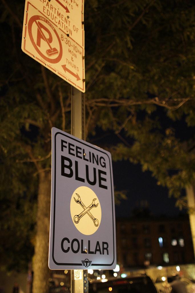 FEELING BLUE COLLAR