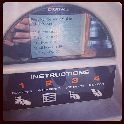 Digital Parking Meter Prompts by stevegarfield