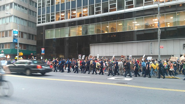 #OccupyWallStreet marching on Water St