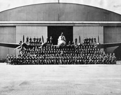 Personnel of No. 419 (Moose) Squadron, R.C.A.F., with an Avro Lancaster B.X aircraft (Sudbury2Malton) Tags: lancaster boeing douglas malton avro dehavilland mcdonnelldouglas avroarrow victoryaircraft avroe nationalsteelcar maltonontario