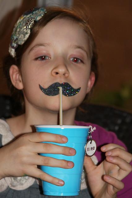 Mustache drinking straws {kennedy}