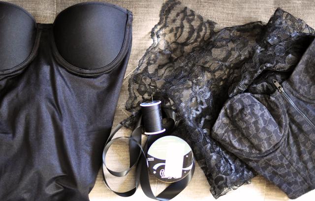 Lace Bustier Halter DIY-materials