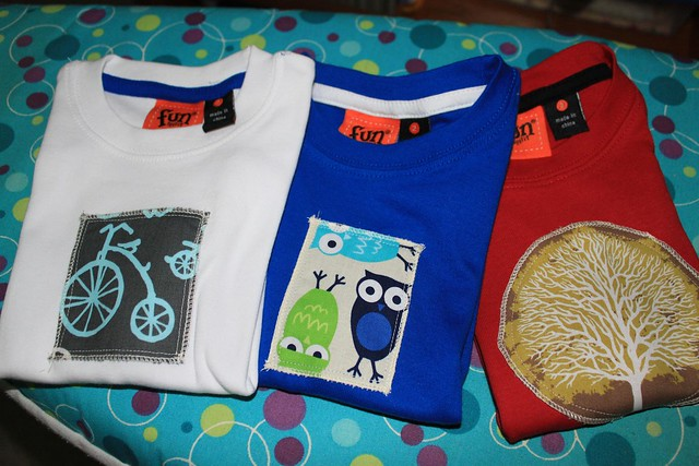 Appliqued tees for Felix's first birthday