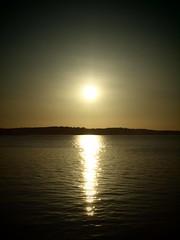 Symmetrical Sun. (brooke10178) Tags: sunset sun lake color water beautiful fun washington pretty state bright symmetrical steilacoom