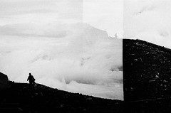 Mount Fuji, Japan (NateVenture) Tags: bw film japan hiking mountfuji neopan konica mtfuji bigmini bm302