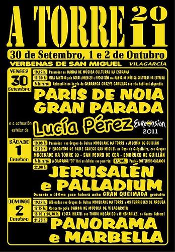 Vilagarcía de Arousa 2011 - Festas de San Miguel A Torre - cartel