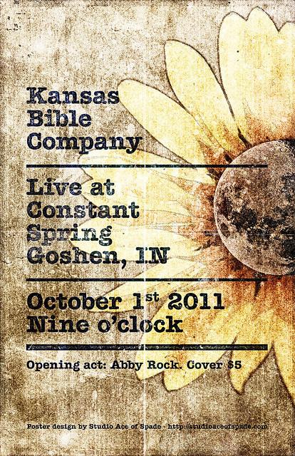 SAoS - Kansas Bible Company Gig poster