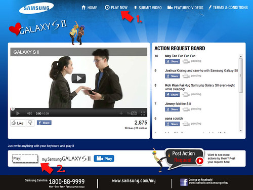 """I Love Samsung Galaxy S II"" Campaign - Play Now"