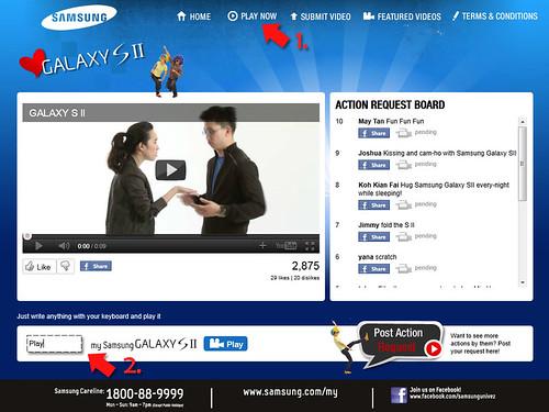"""I Love Samsung Galaxy S II"" Campaign - Play Now"